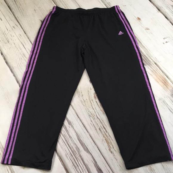 93a49c5436ed adidas Pants - Adidas workout pants black purple pocket women XL